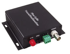 1 Channel Fiber Optic Video Converters